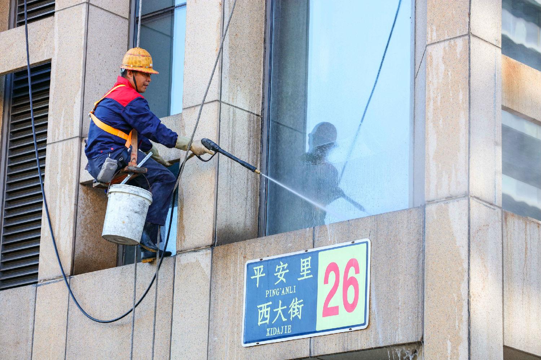美汐清洁外墙清洗蜘蛛人