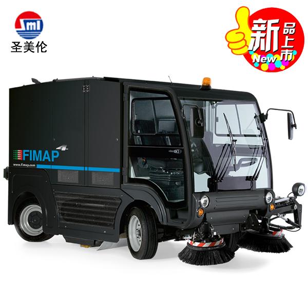 意大利菲迈普F4大型进口扫地车 双模道路清扫车